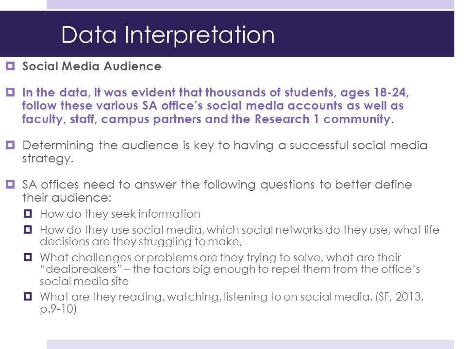 Data Interpretation Social Media Audience