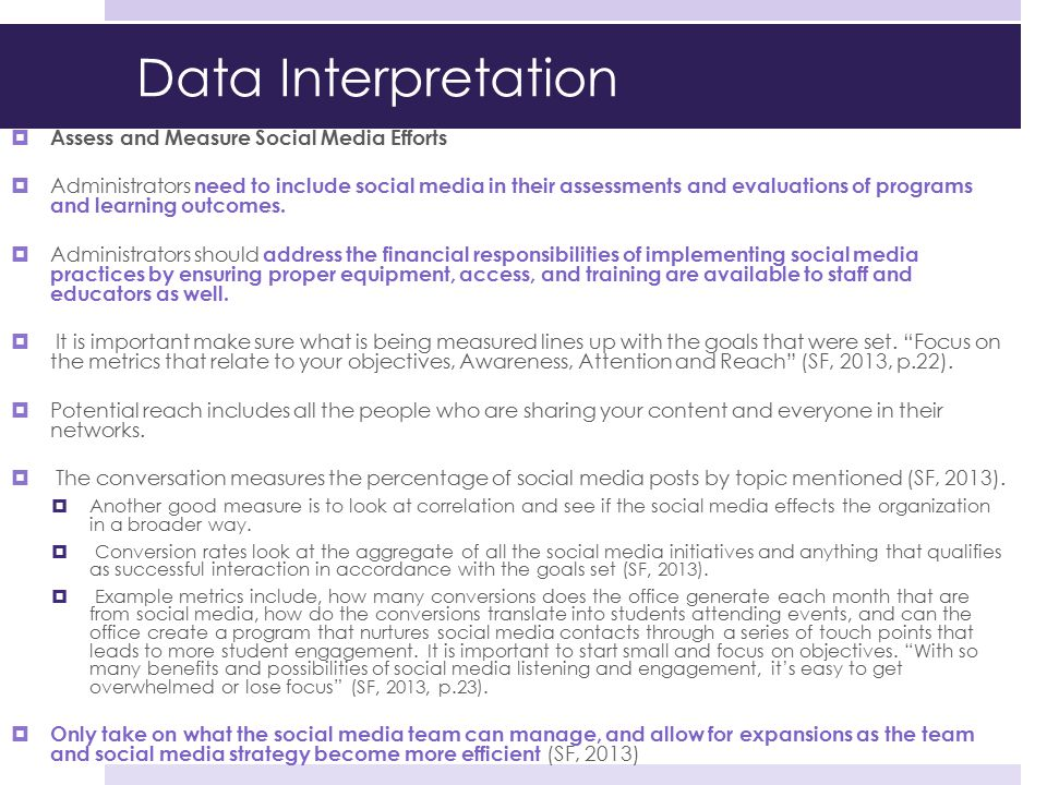 Data Interpretation Assess and Measure Social Media Efforts