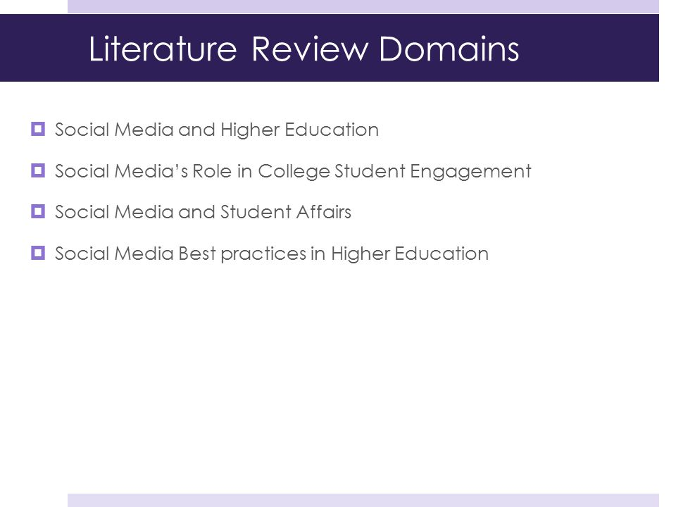 Literature Review Domains