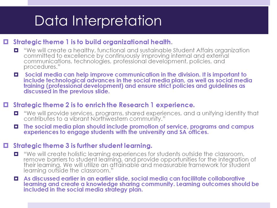 Data Interpretation Strategic theme 1 is to build organizational health.