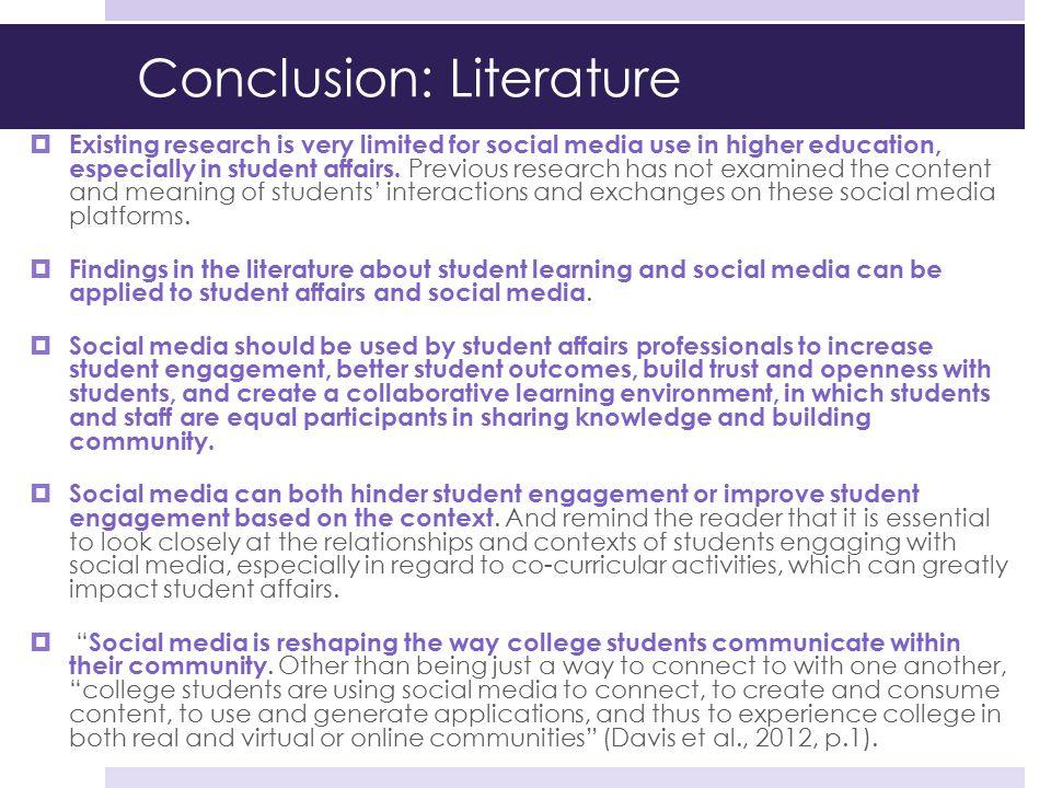Conclusion: Literature