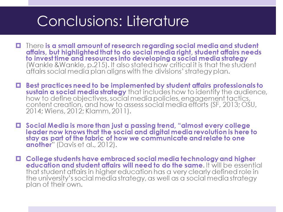 Conclusions: Literature
