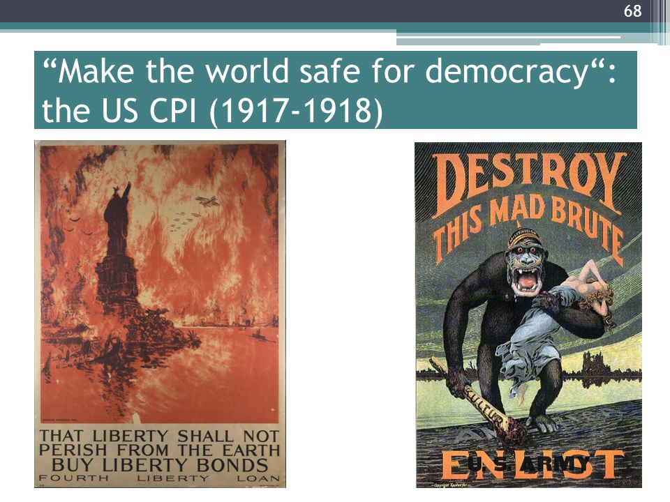 Make the world safe for democracy : the US CPI (1917-1918)