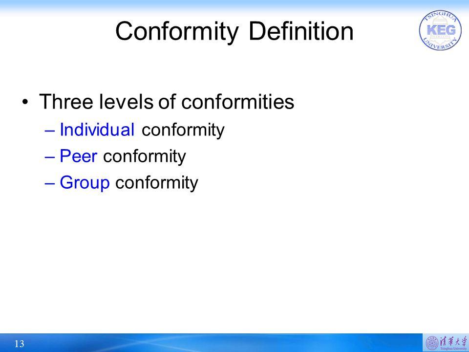Conformity Definition