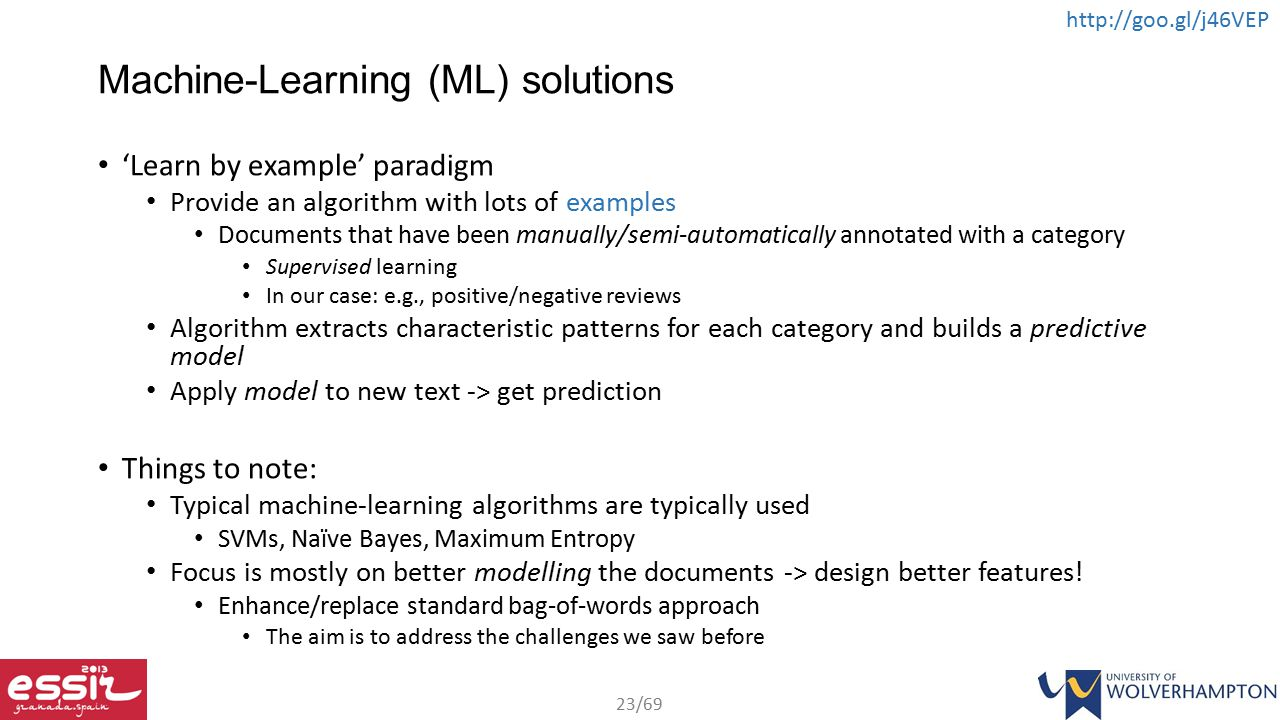 Machine-Learning (ML) solutions