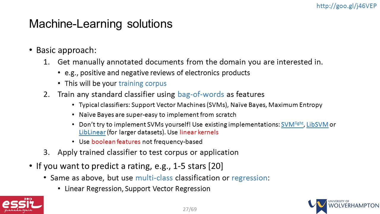 Machine-Learning solutions