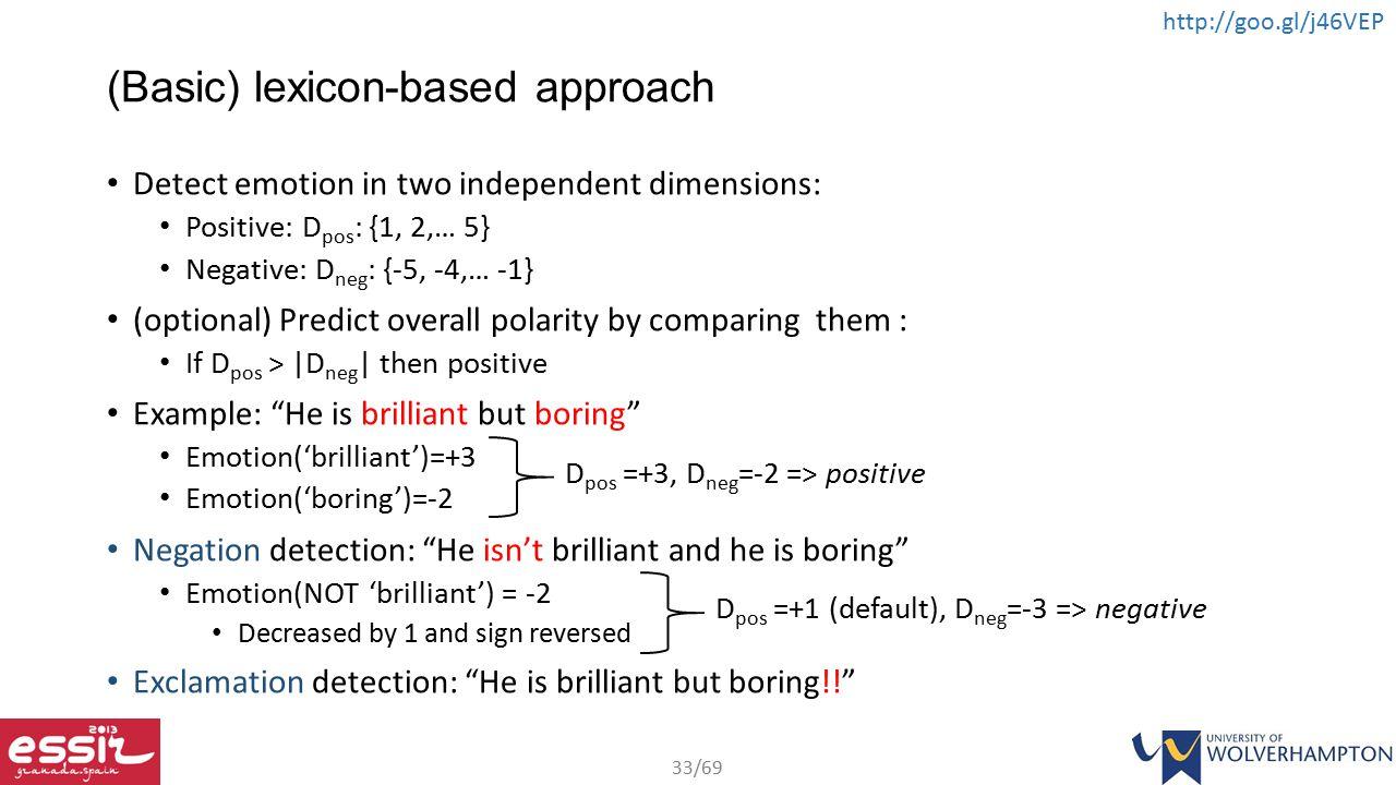 (Basic) lexicon-based approach