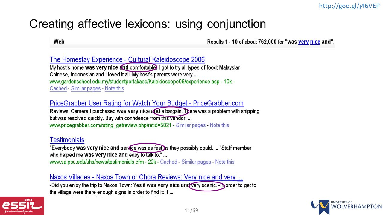 Creating affective lexicons: using conjunction