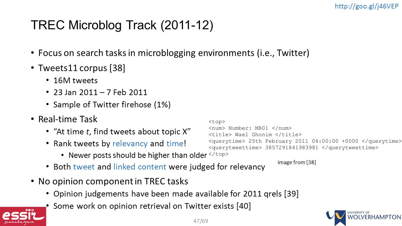TREC Microblog Track (2011-12)