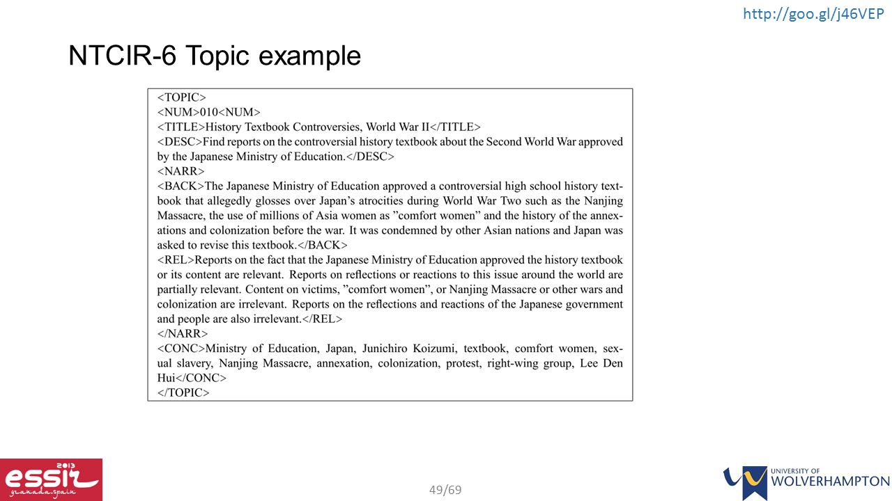 NTCIR-6 Topic example