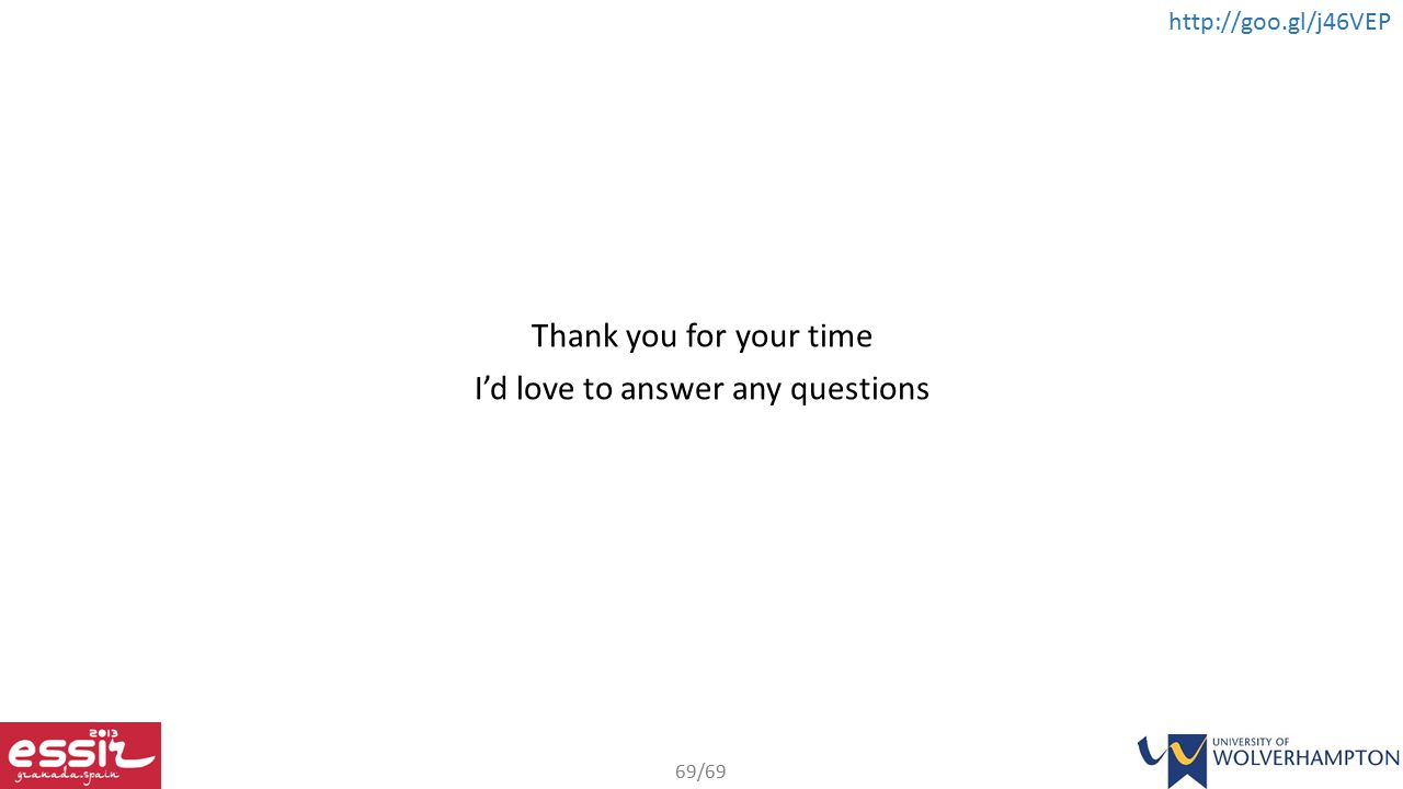 Thank you for your time I'd love to answer any questions