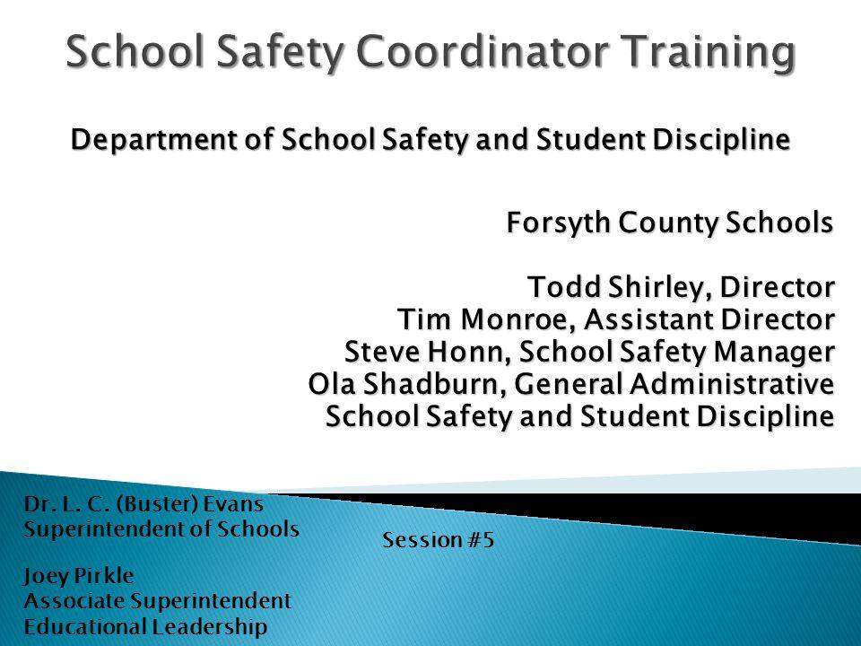 School Safety Coordinator Training