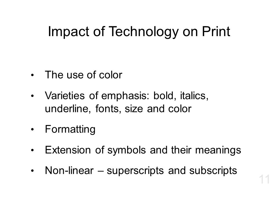 Impact of Technology on Print