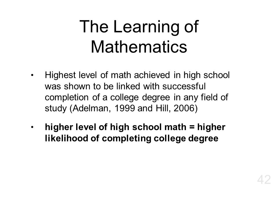 The Learning of Mathematics