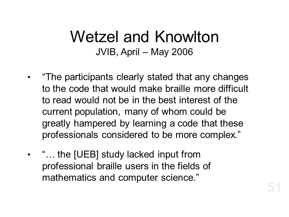 Wetzel and Knowlton JVIB, April – May 2006