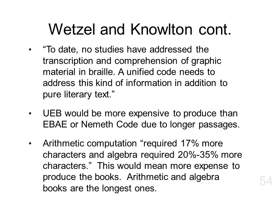 Wetzel and Knowlton cont.