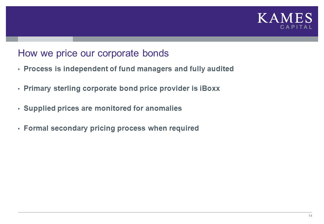 How we price our corporate bonds