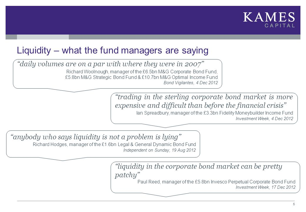 Liquidity – what the fund managers are saying