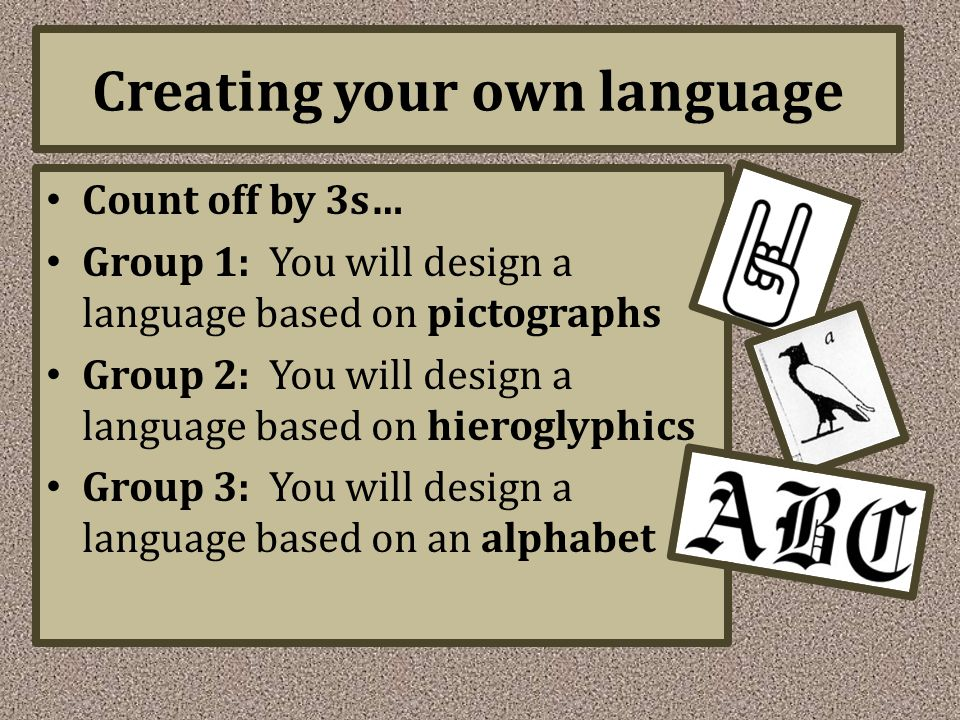 Creating your own language