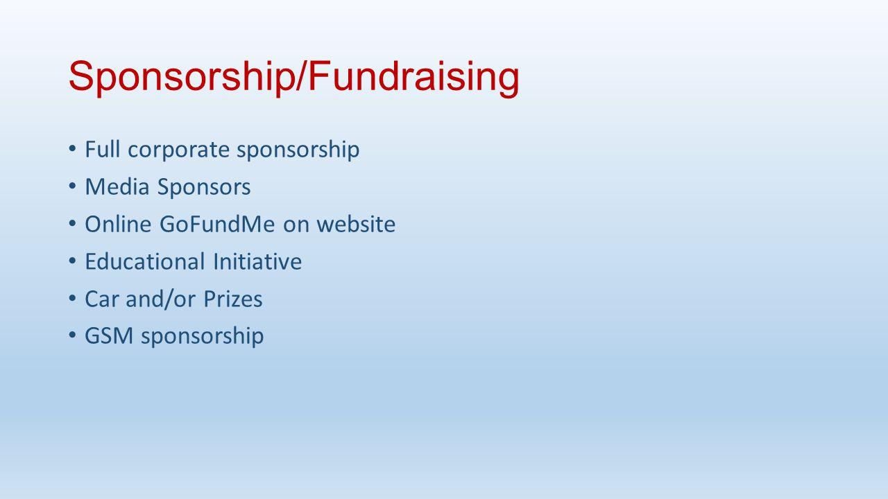 Sponsorship/Fundraising
