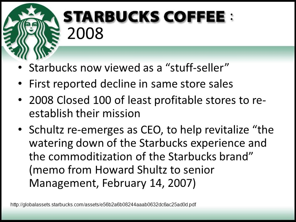 2008 Starbucks now viewed as a stuff-seller