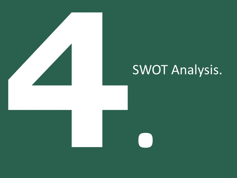 4. SWOT Analysis.