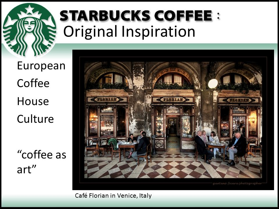 Original Inspiration European Coffee House Culture coffee as art