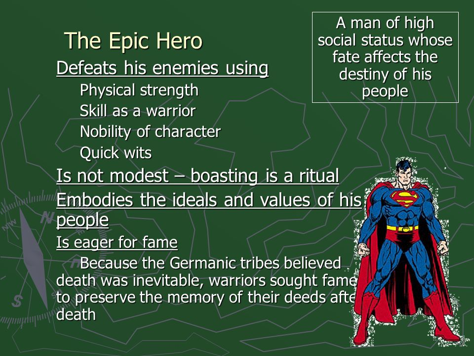 The Epic Hero Defeats his enemies using