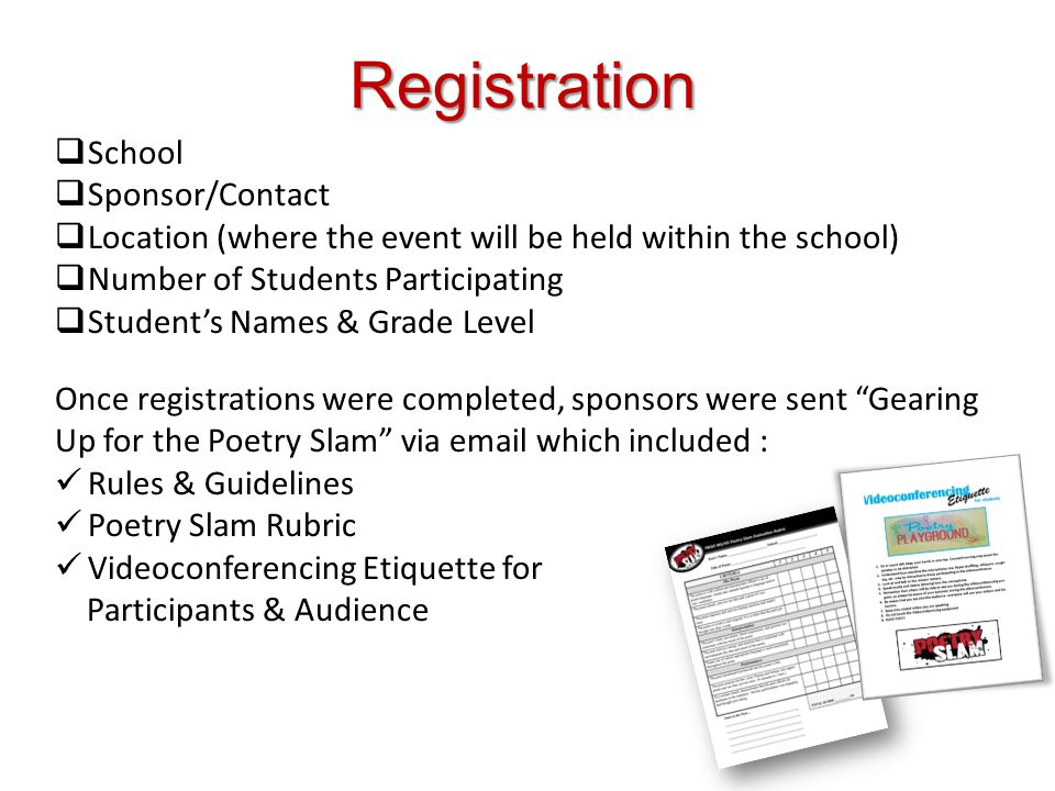 Registration School Sponsor/Contact