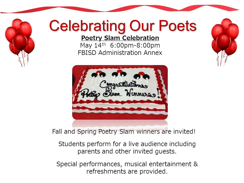 Poetry Slam Celebration