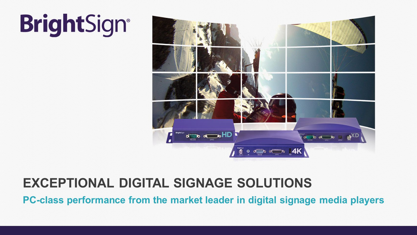 Exceptional Digital signage Solutions