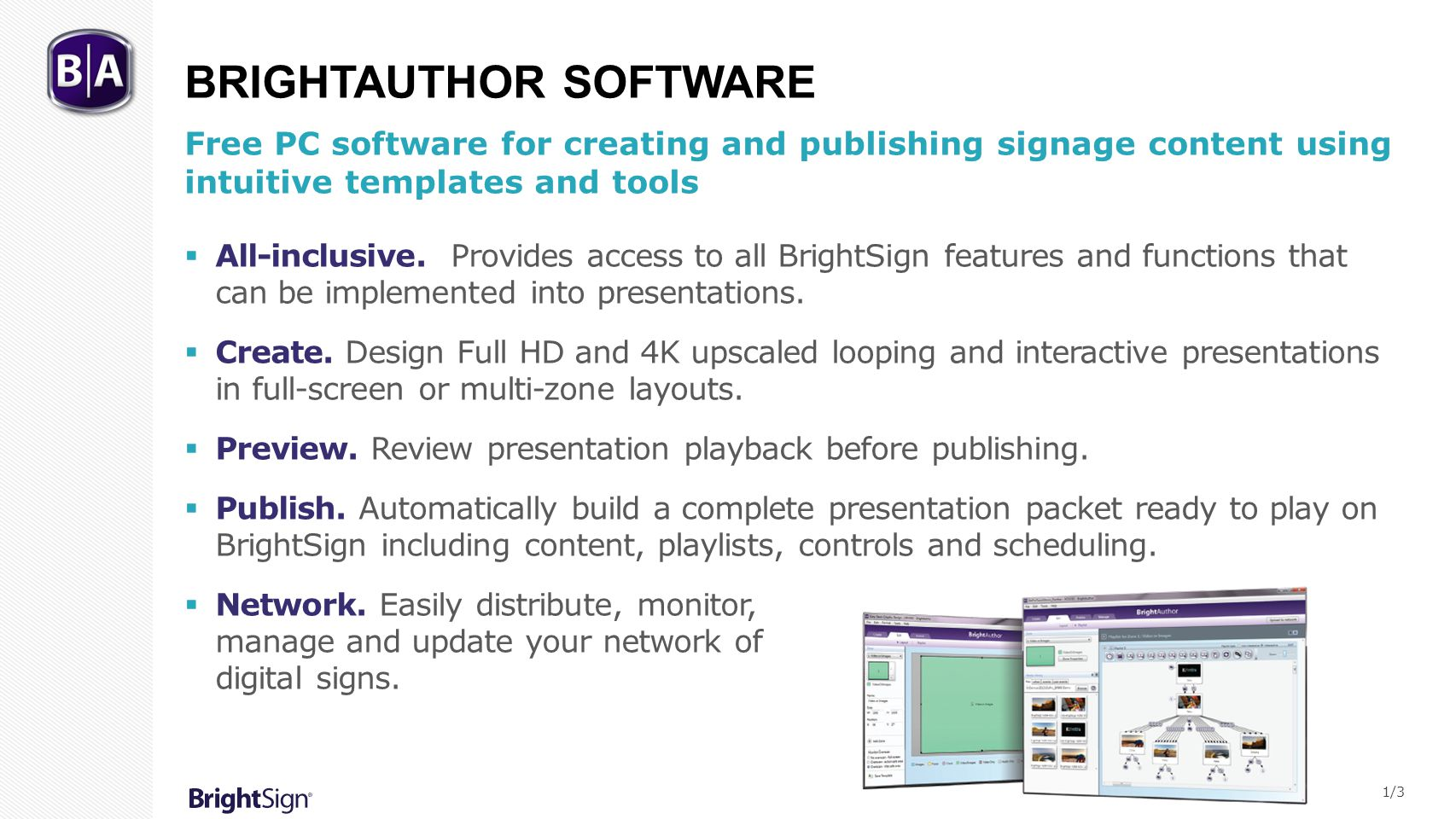 BrightAuthor Software