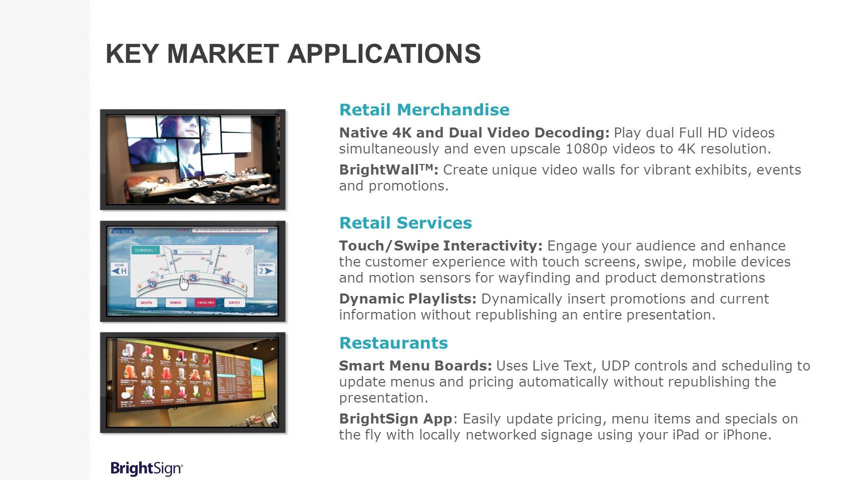 Key market applications