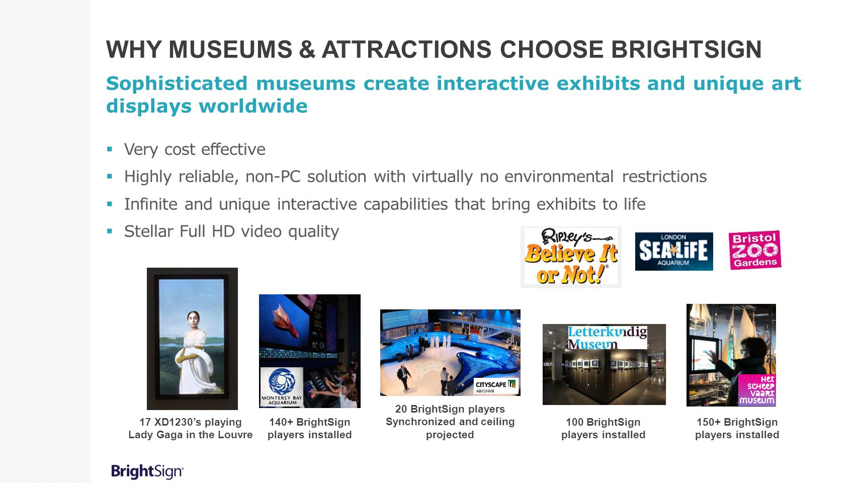 Why Museums & Attractions Choose BrightSign