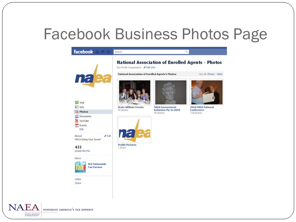Facebook Business Photos Page