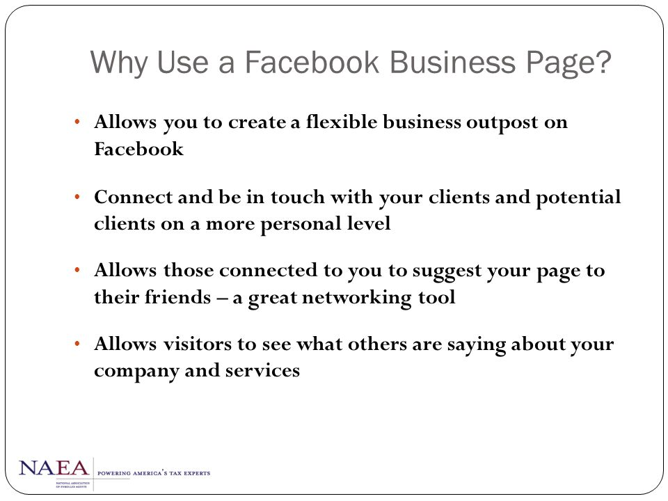Why Use a Facebook Business Page