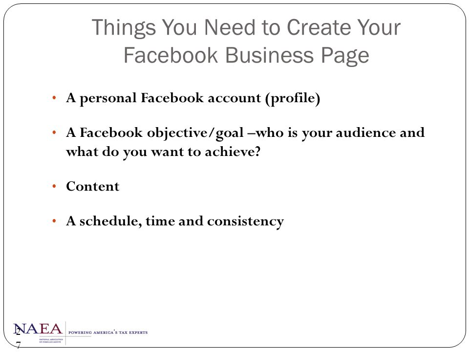Things You Need to Create Your Facebook Business Page
