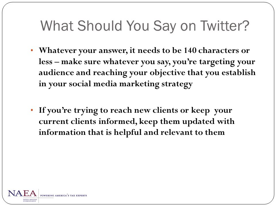 What Should You Say on Twitter