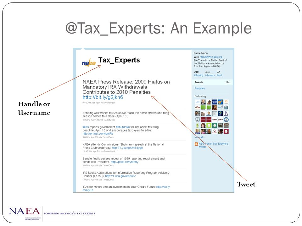 @Tax_Experts: An Example
