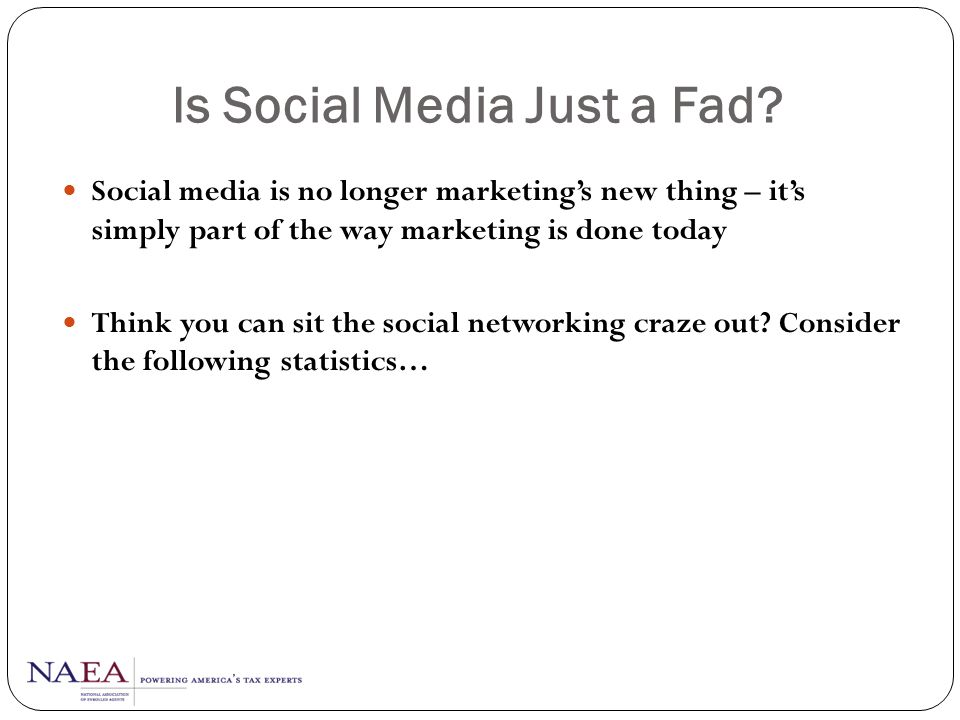 Is Social Media Just a Fad
