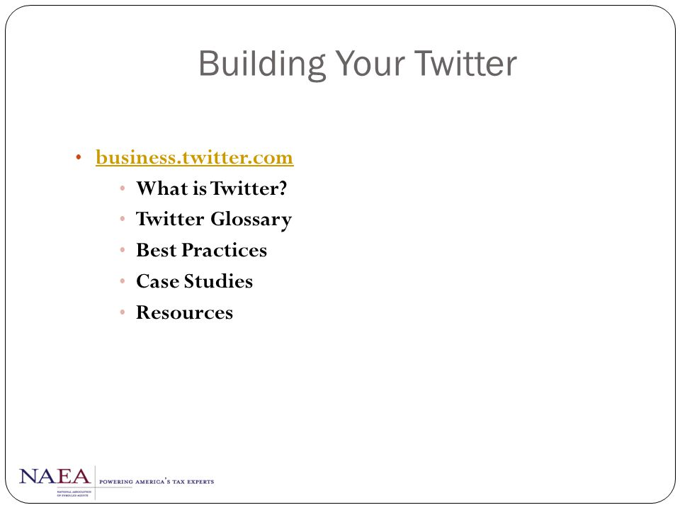 Building Your Twitter business.twitter.com What is Twitter