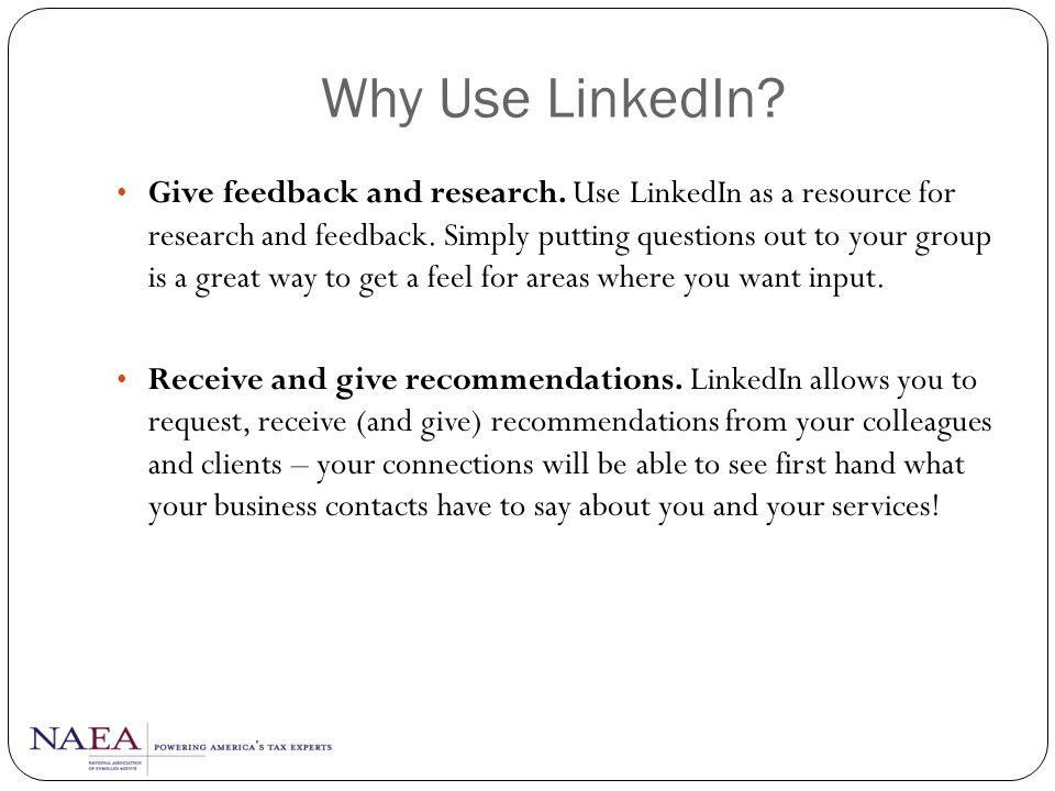 Why Use LinkedIn