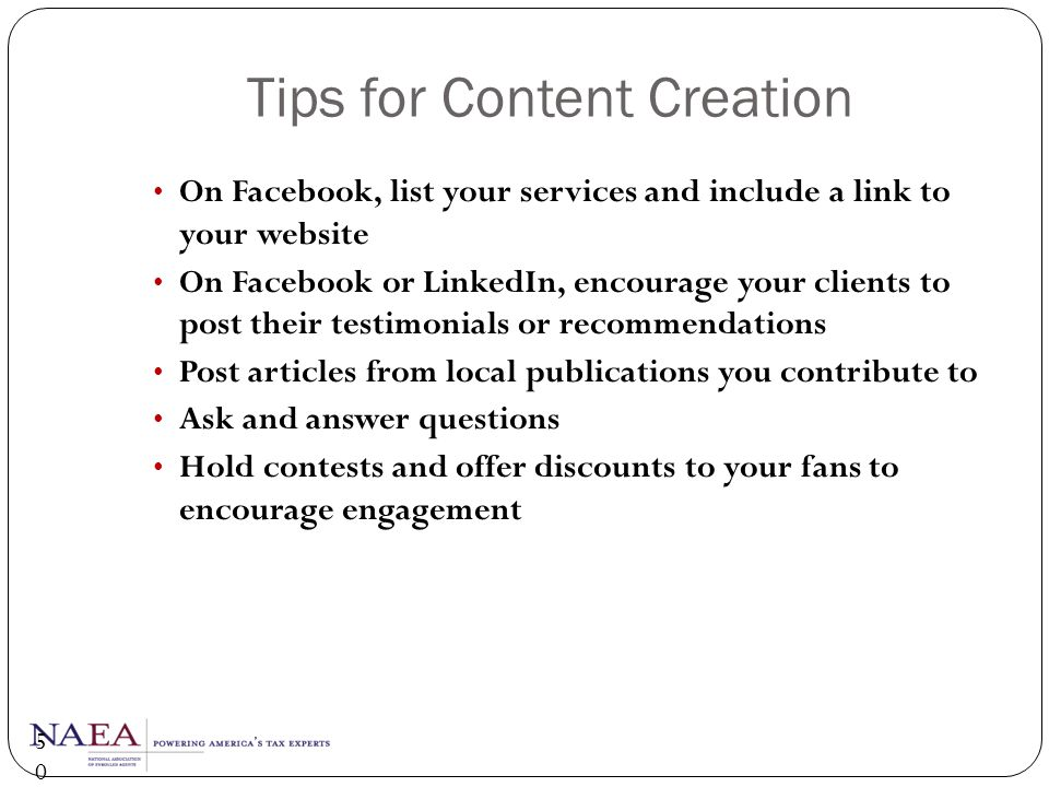 Tips for Content Creation