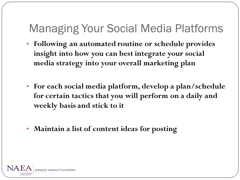 Managing Your Social Media Platforms