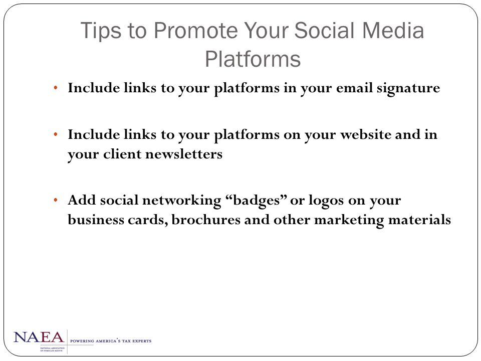 Tips to Promote Your Social Media Platforms
