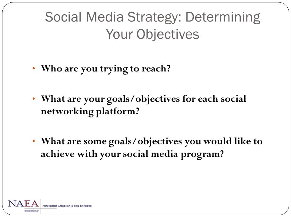 Social Media Strategy: Determining Your Objectives