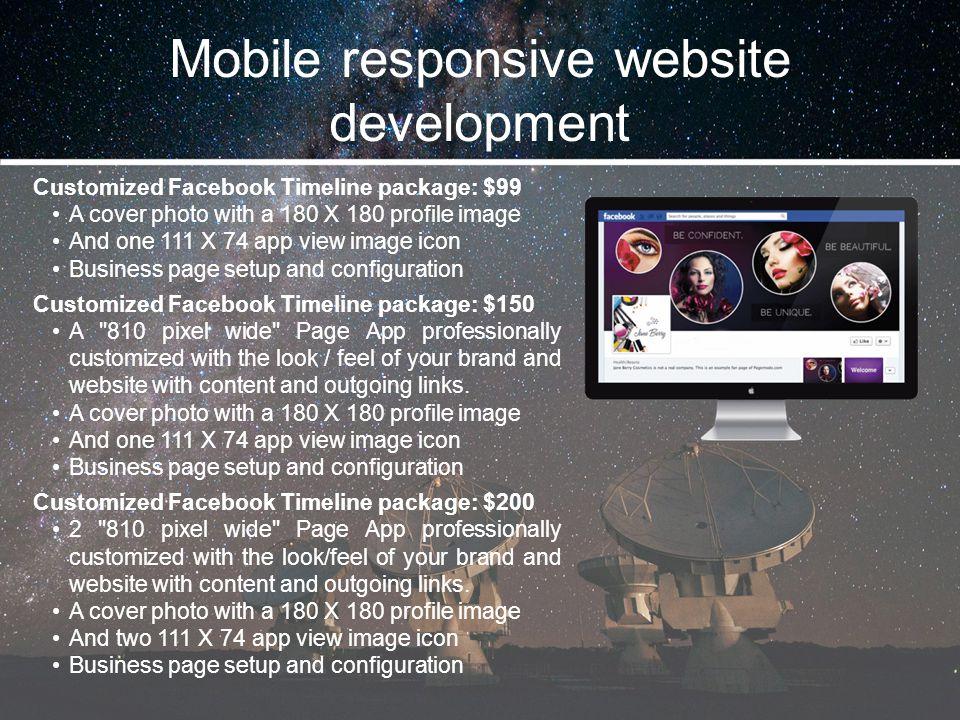 Mobile responsive website development