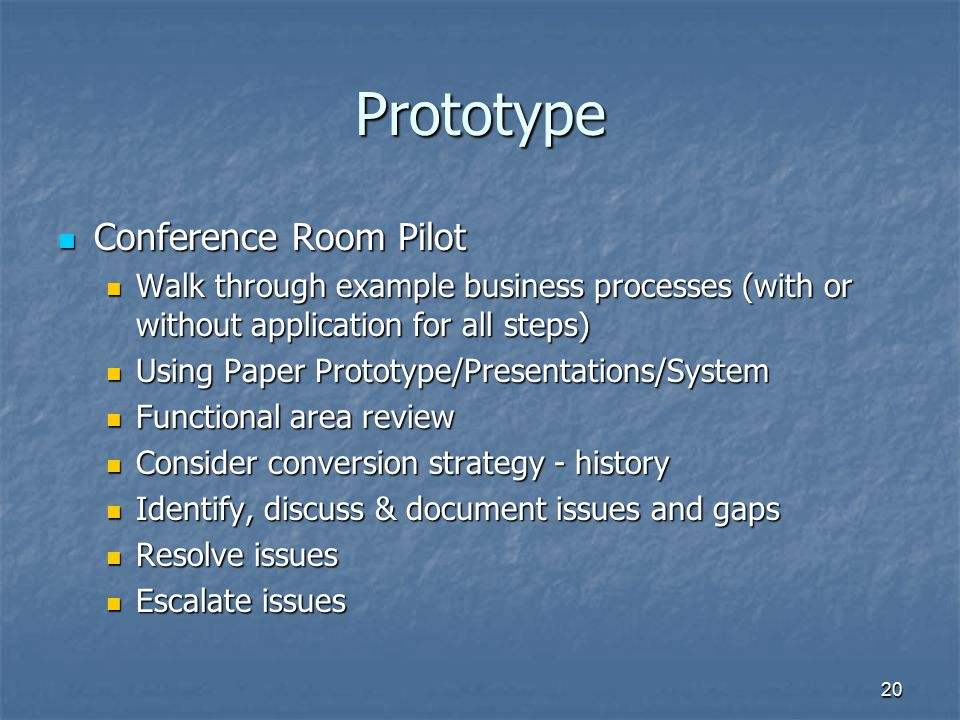 Prototype Conference Room Pilot