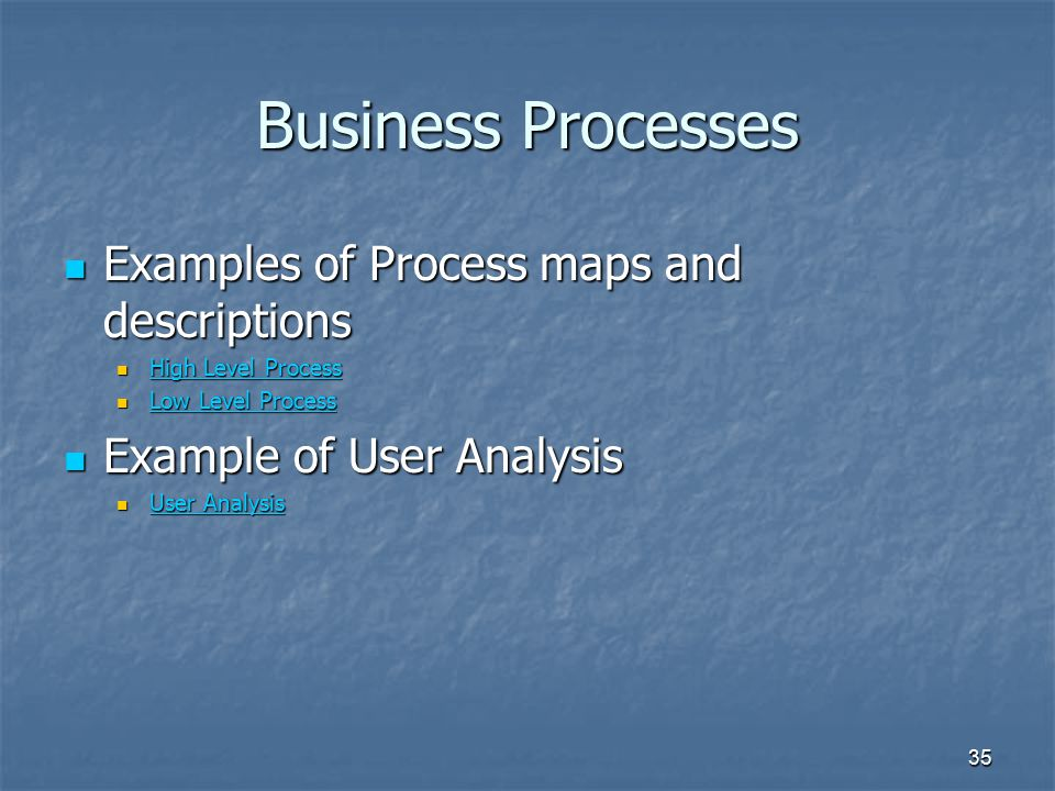 Business Processes Examples of Process maps and descriptions