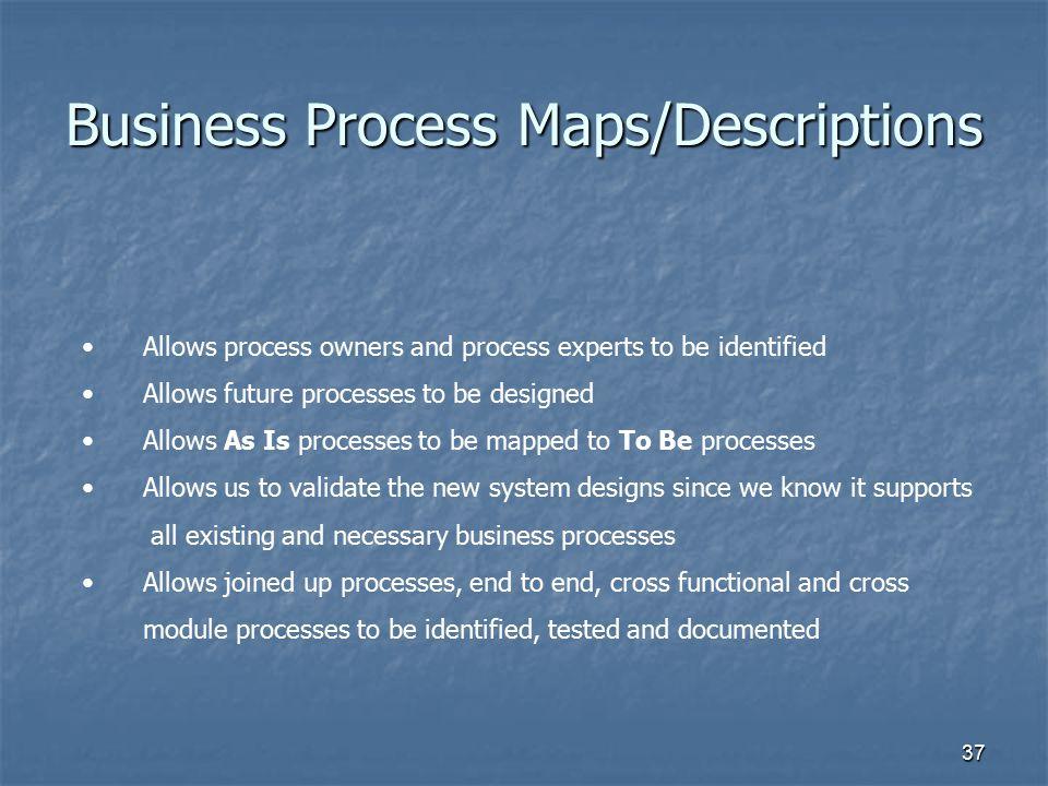 Business Process Maps/Descriptions